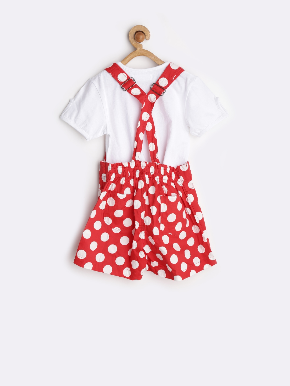 Myntra naughty ninos girls red white polka dot print for White red polka dot shirt