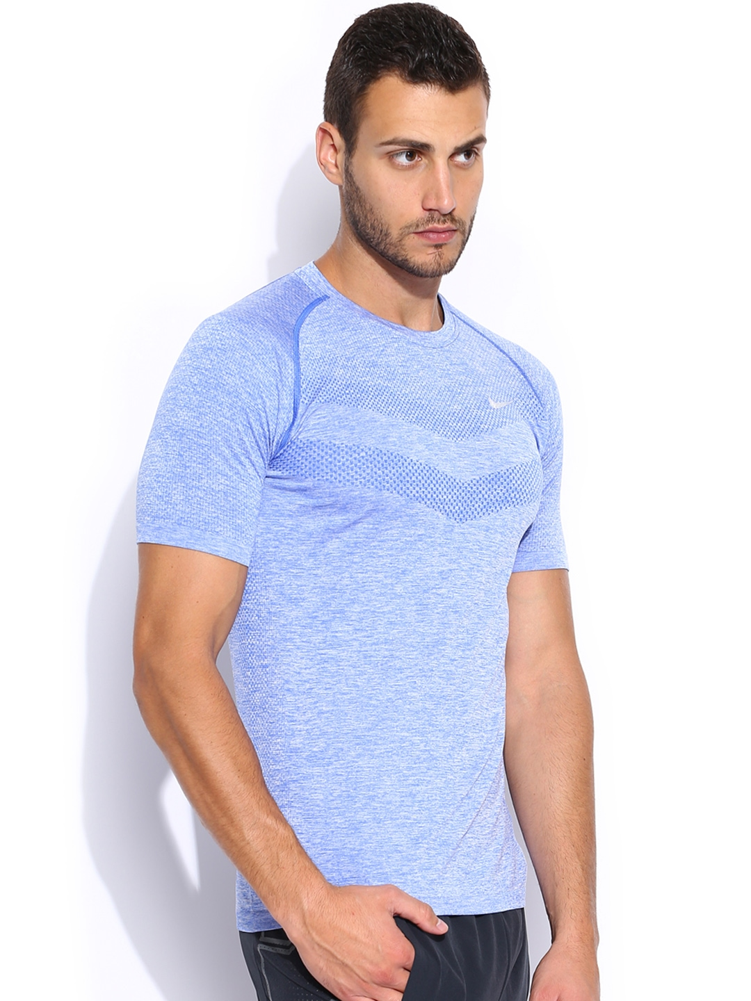 Myntra nike blue dri fit t shirt 857813 buy myntra nike for Buy dri fit shirts