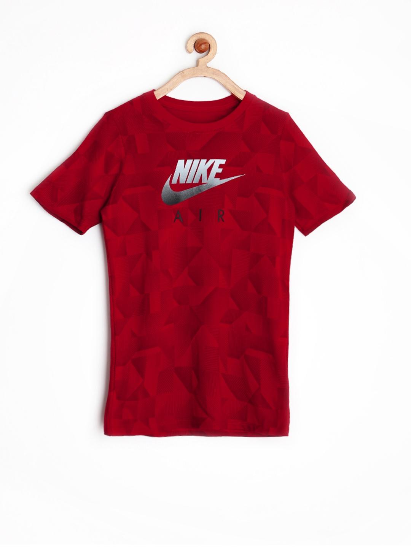 Myntra nike boys red printed t shirt 857887 buy myntra for Nike t shirt price