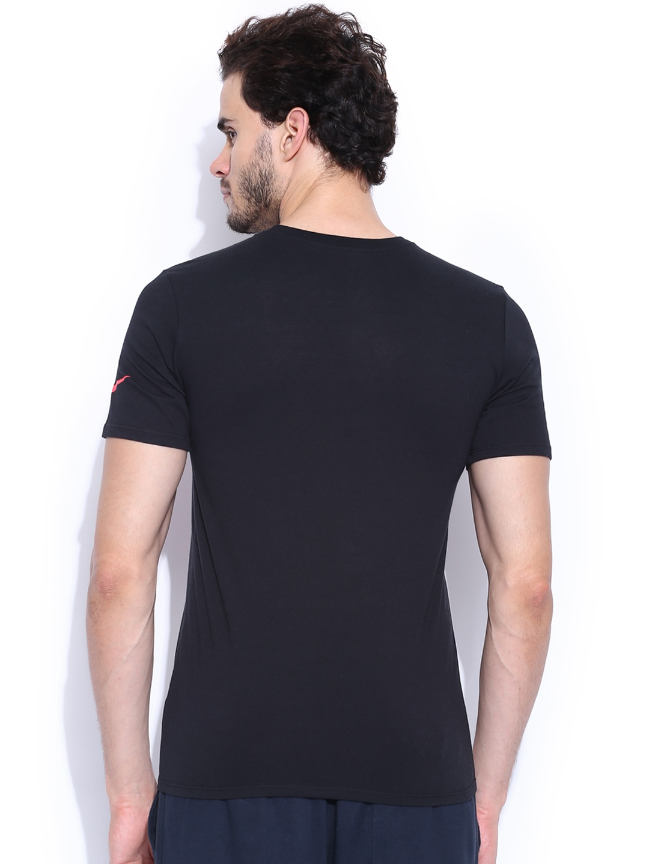 Myntra nike black printed t shirt 857934 buy myntra nike for Nike t shirt price