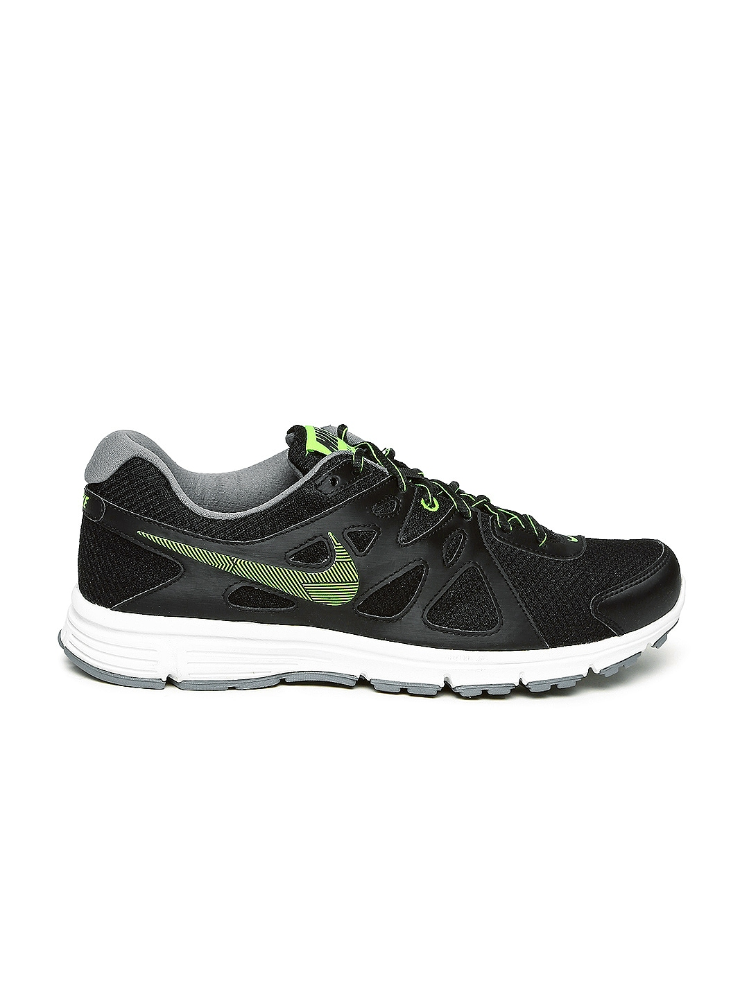 myntra nike black revolution 2 running shoes 858174