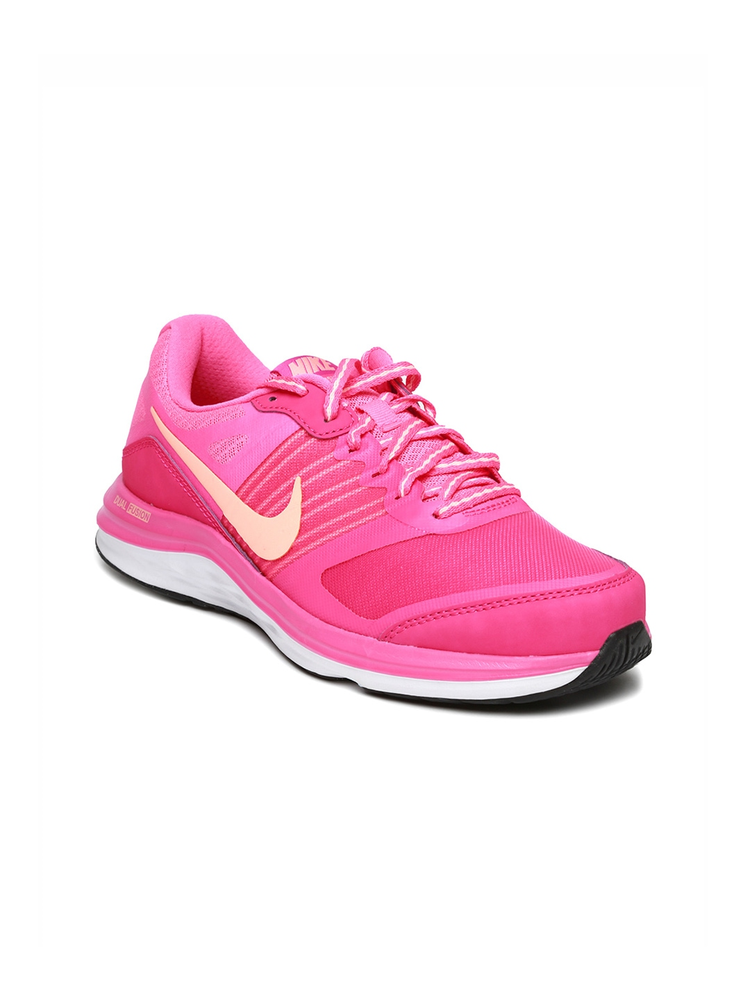 myntra nike pink dual fusion x msl running shoes