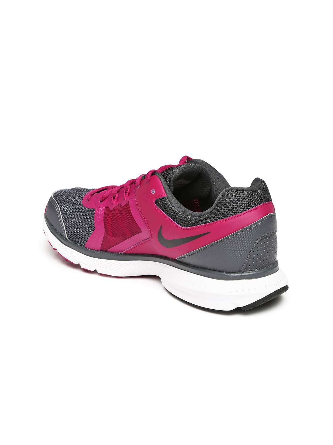myntra nike grey pink zoom winflo shoes