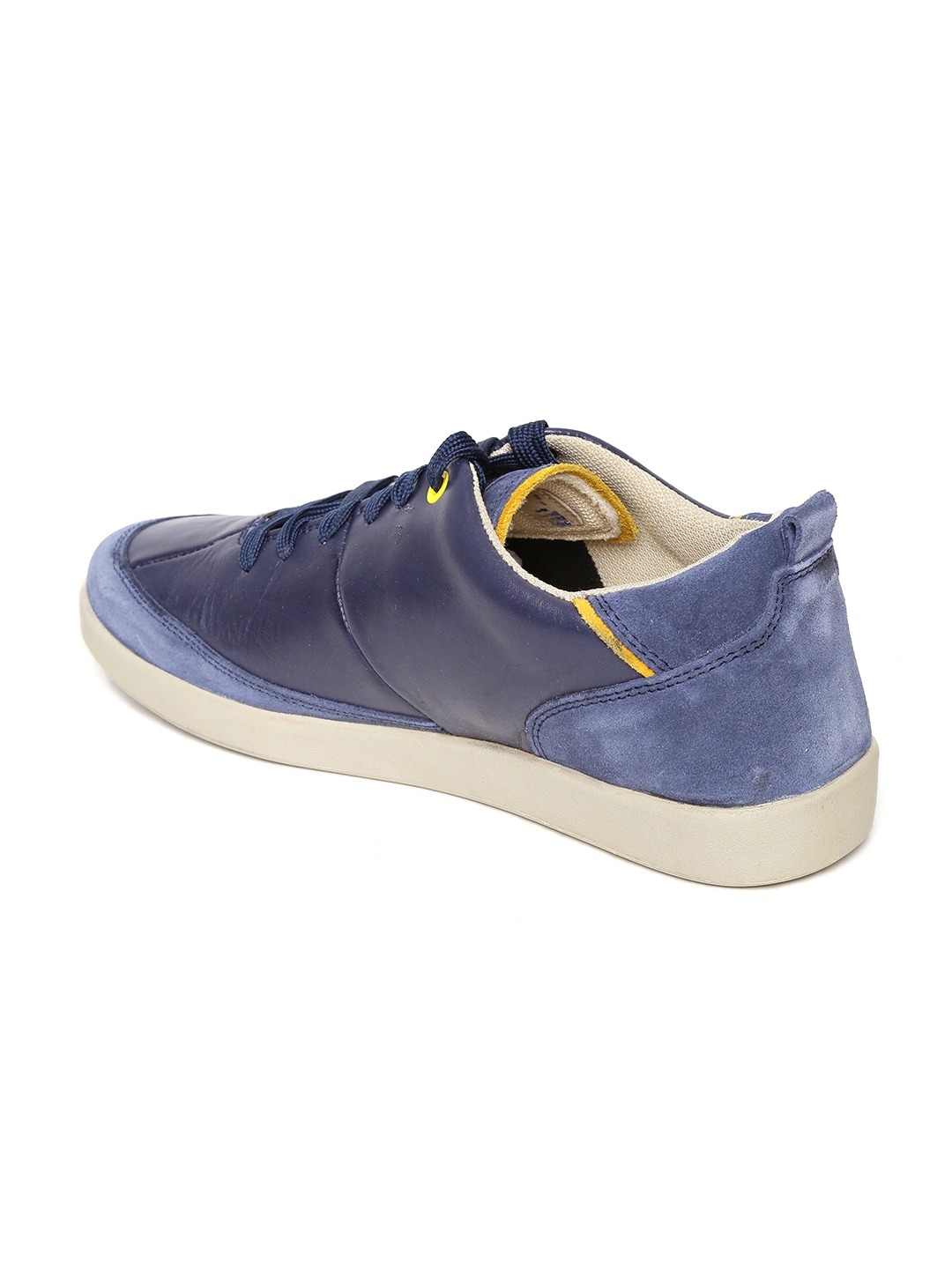 myntra woodland navy leather casual shoes 862790 buy