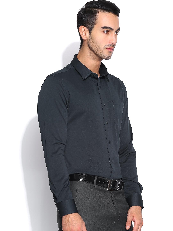Myntra Arrow New York Navy Super Slim Fit Formal Shirt