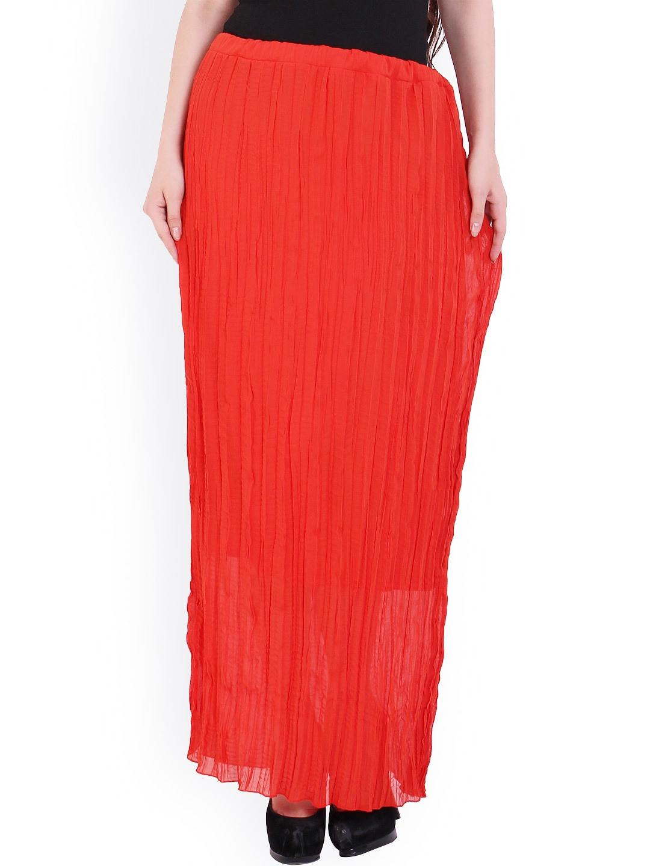 myntra rattrap orange maxi skirt 863966 buy myntra