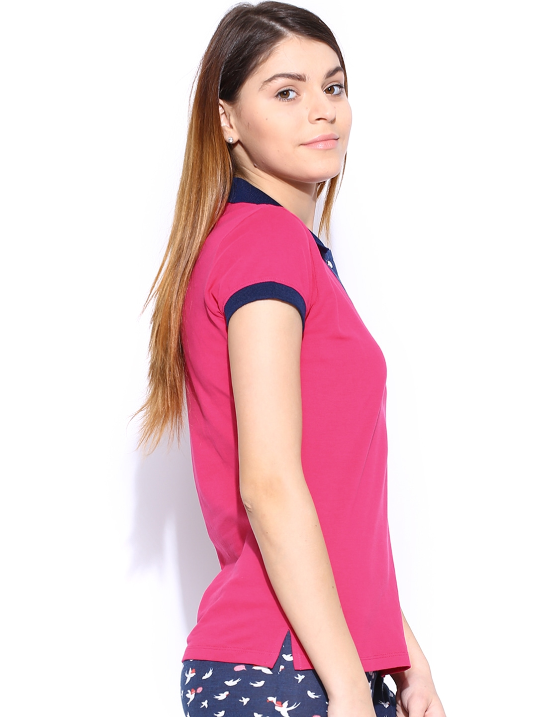 myntra sdl by sweet dreams magenta navy polo t shirt 864177 buy myntra sdl by sweet dreams. Black Bedroom Furniture Sets. Home Design Ideas