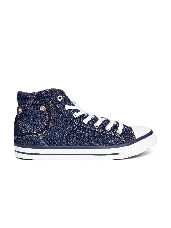 myntra roadster blue denim canvas shoes 870361 buy