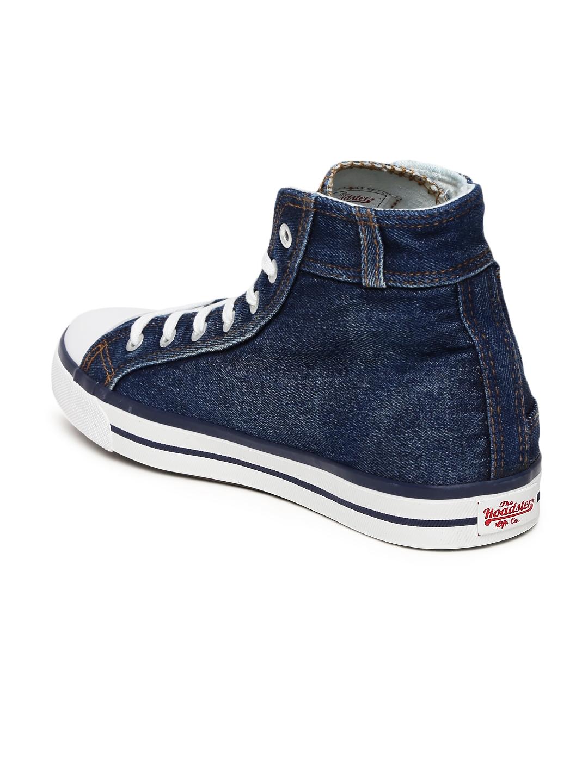 myntra roadster blue denim canvas shoes 870362 buy