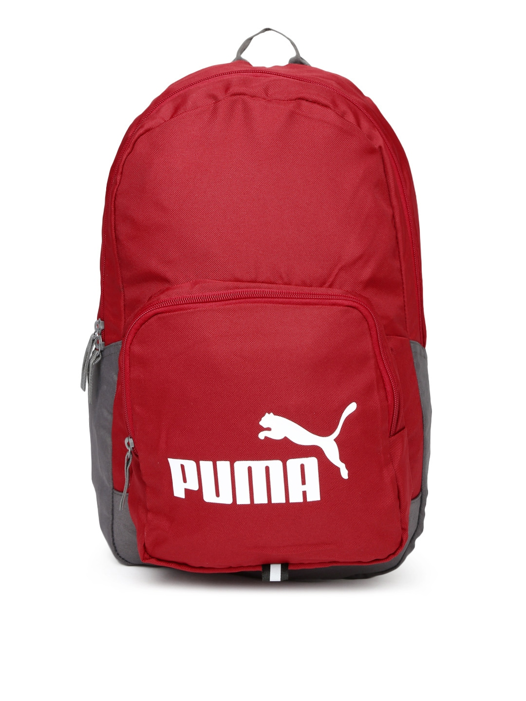 Myntra PUMA Unisex Red & Grey Phase Backpack 877234