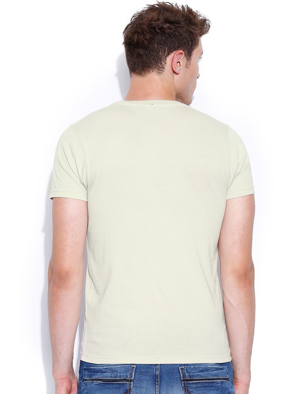myntra pepe jeans beige printed t shirt 877464 buy. Black Bedroom Furniture Sets. Home Design Ideas