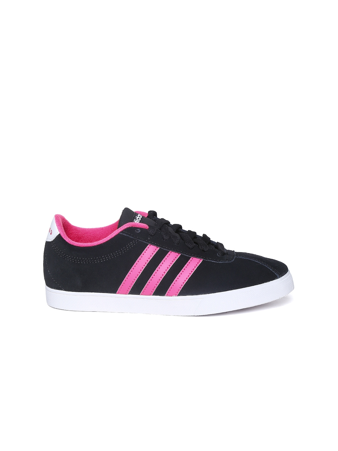 myntra adidas neo black courtset casual shoes 878578