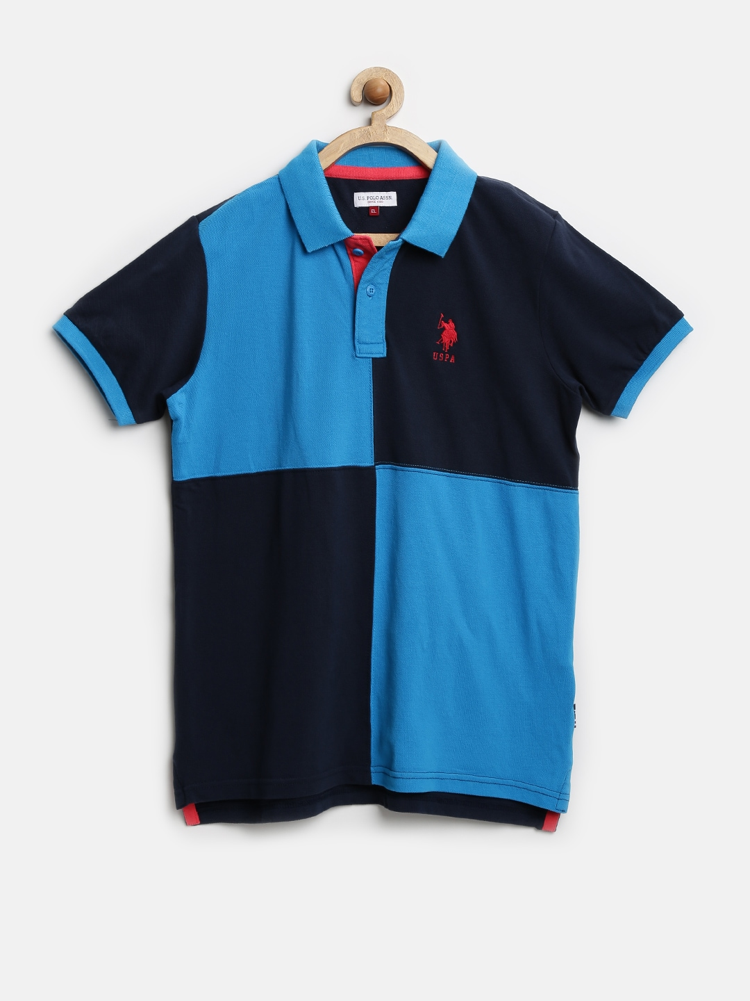 Myntra U S Polo Assn Kids Boys Navy Colour Blocked Polo