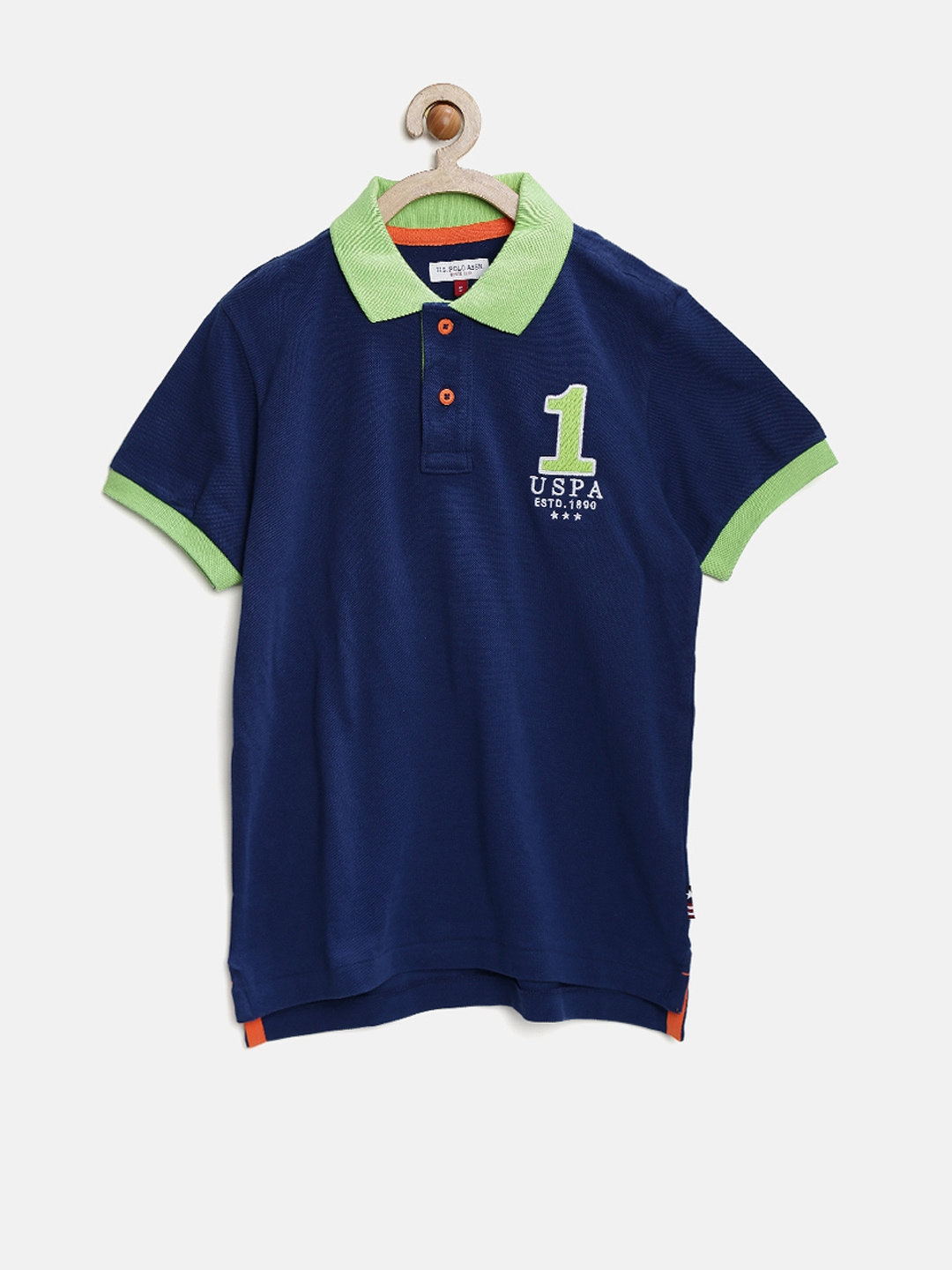 Myntra U S Polo Assn Kids Boys Navy Polo T Shirt 879432