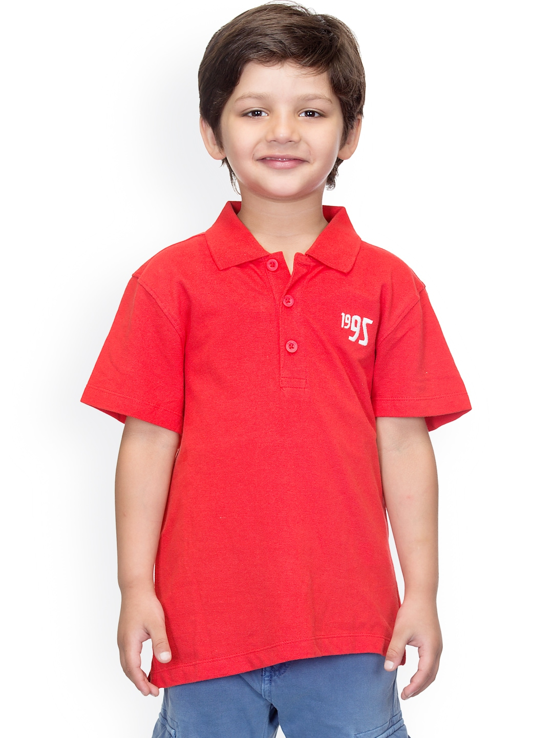 Myntra oxolloxo boys red polo t shirt 882366 buy myntra for Shirts online shopping lowest price