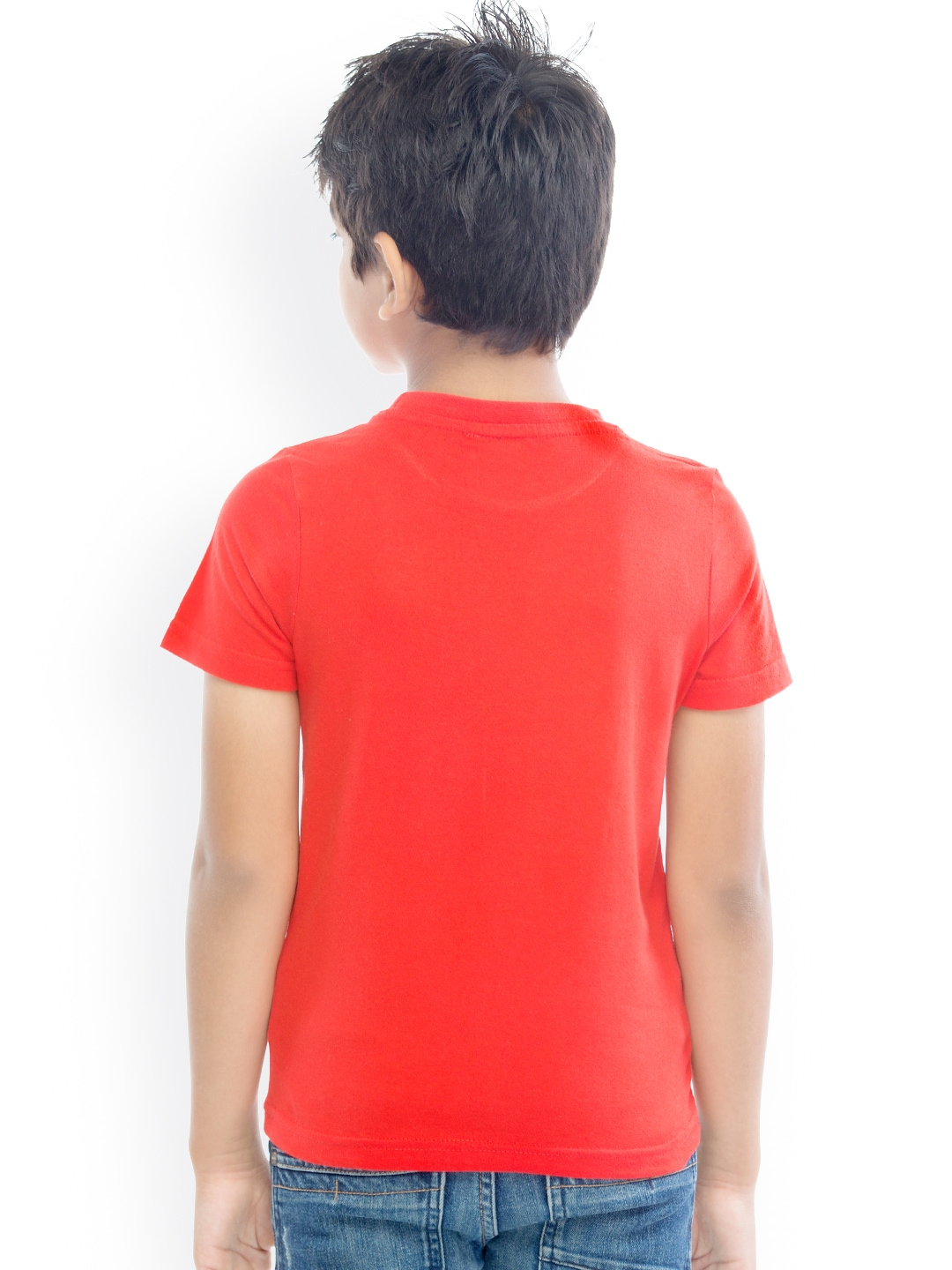 Myntra oxolloxo boys red printed t shirt 882372 buy for Boys printed t shirts