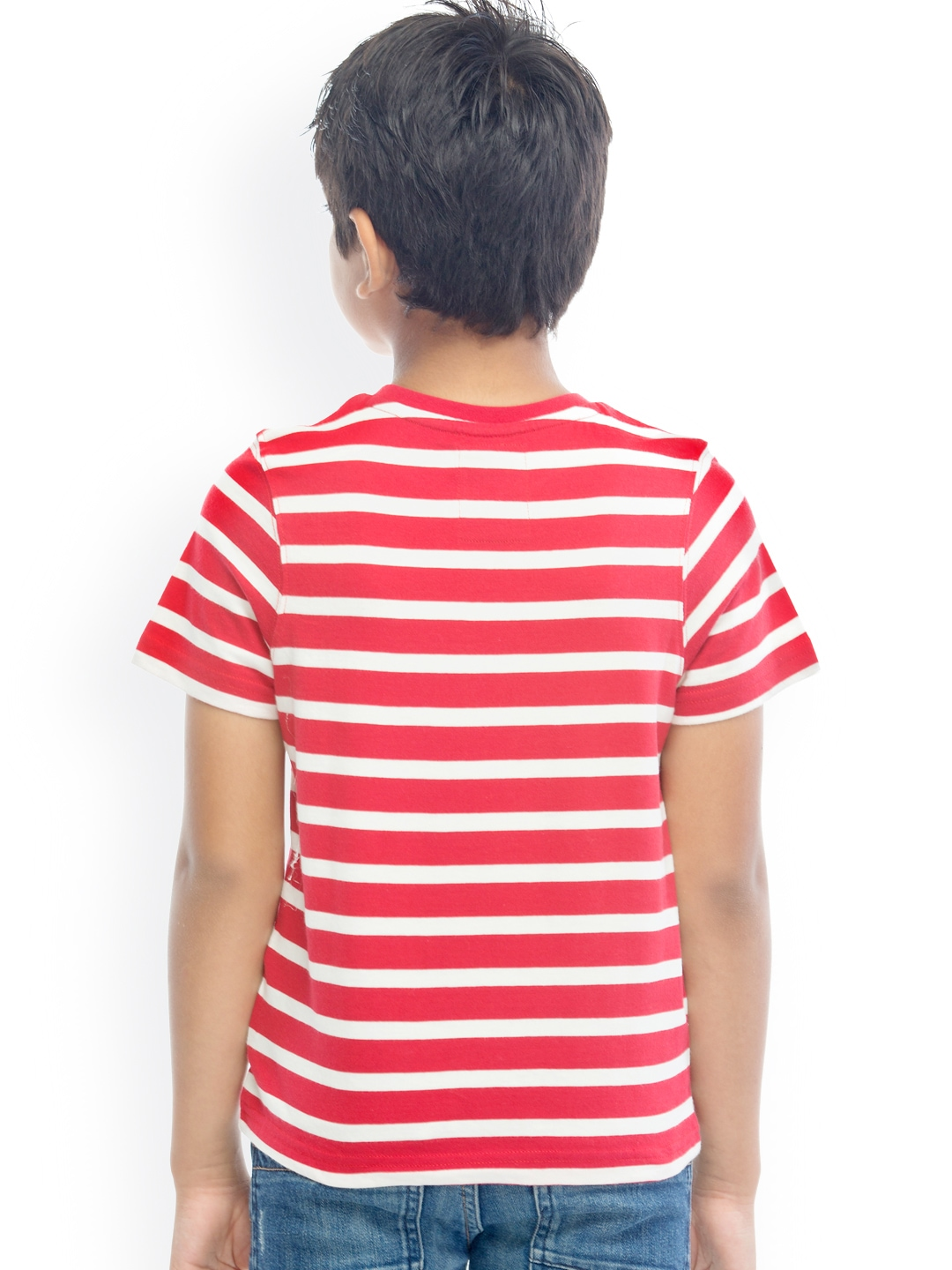 Colour: Red/White Stripe T-shirtSize: Boys Yrs Verified Purchase The stitching was extremely poor. Bits of cotton hanging out while it had been sewn over and down the seam there was a gaping hole/5.