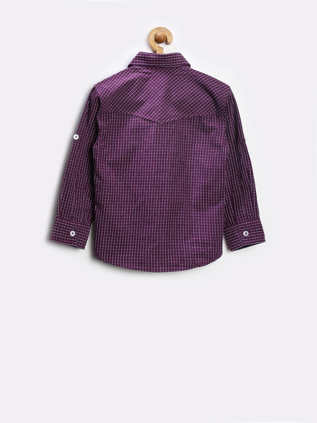 View product details more shirts by gini and jony more for Purple and white checked shirt