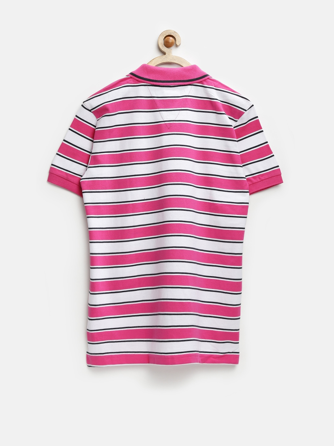 Myntra gini and jony boys pink white striped polo t for Pink white striped shirt