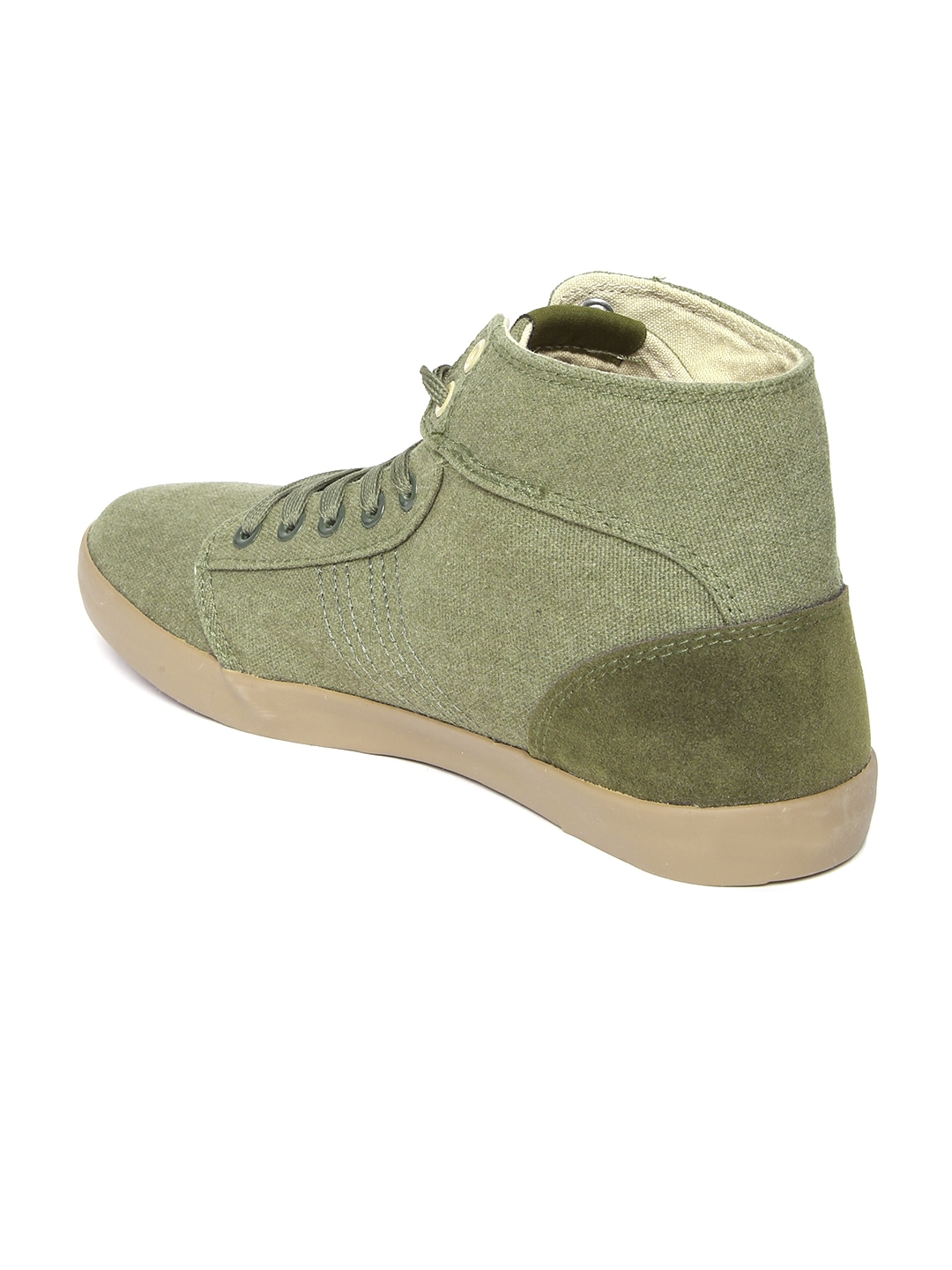 myntra roadster olive green canvas shoes 886654 buy