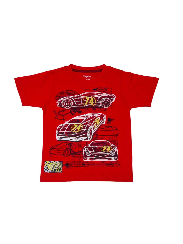 Myntra pepito boys red printed t shirt 887954 buy myntra for Boys printed t shirts