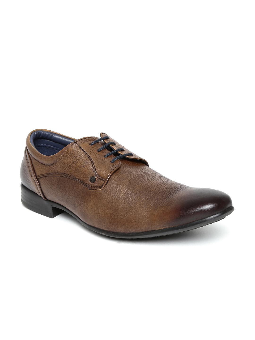 myntra hush puppies by bata brown leather formal shoes