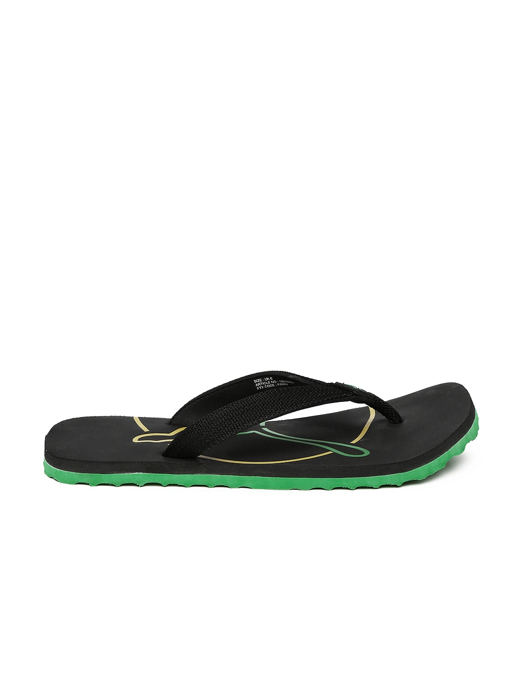 myntra puma unisex black printed flip cat dp flip flops. Black Bedroom Furniture Sets. Home Design Ideas