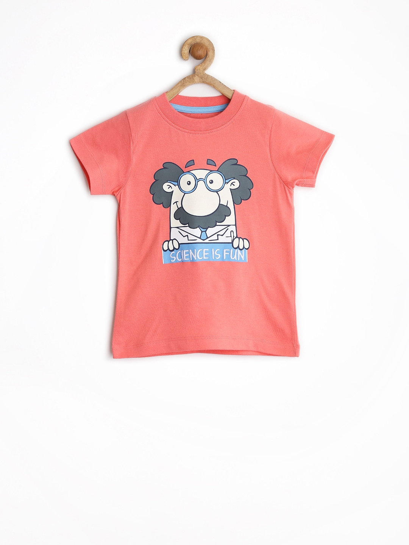 Myntra tickles boys pink printed t shirt 897330 buy for Boys printed t shirts