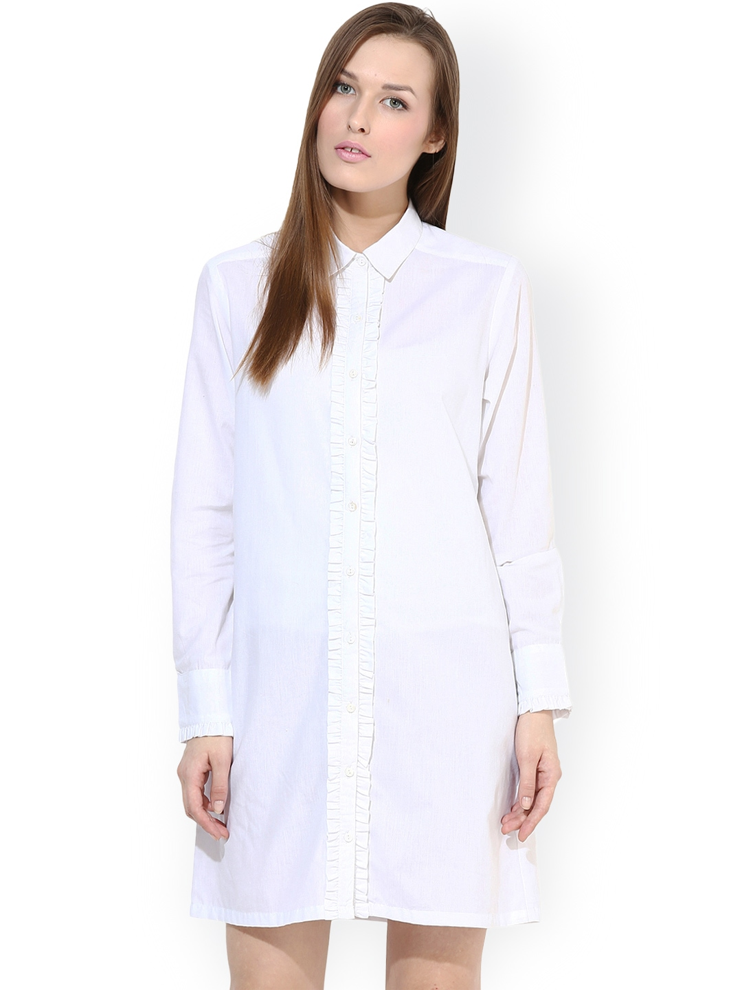 Myntra femella white shirt dress 900442 buy myntra Buy white dress shirt