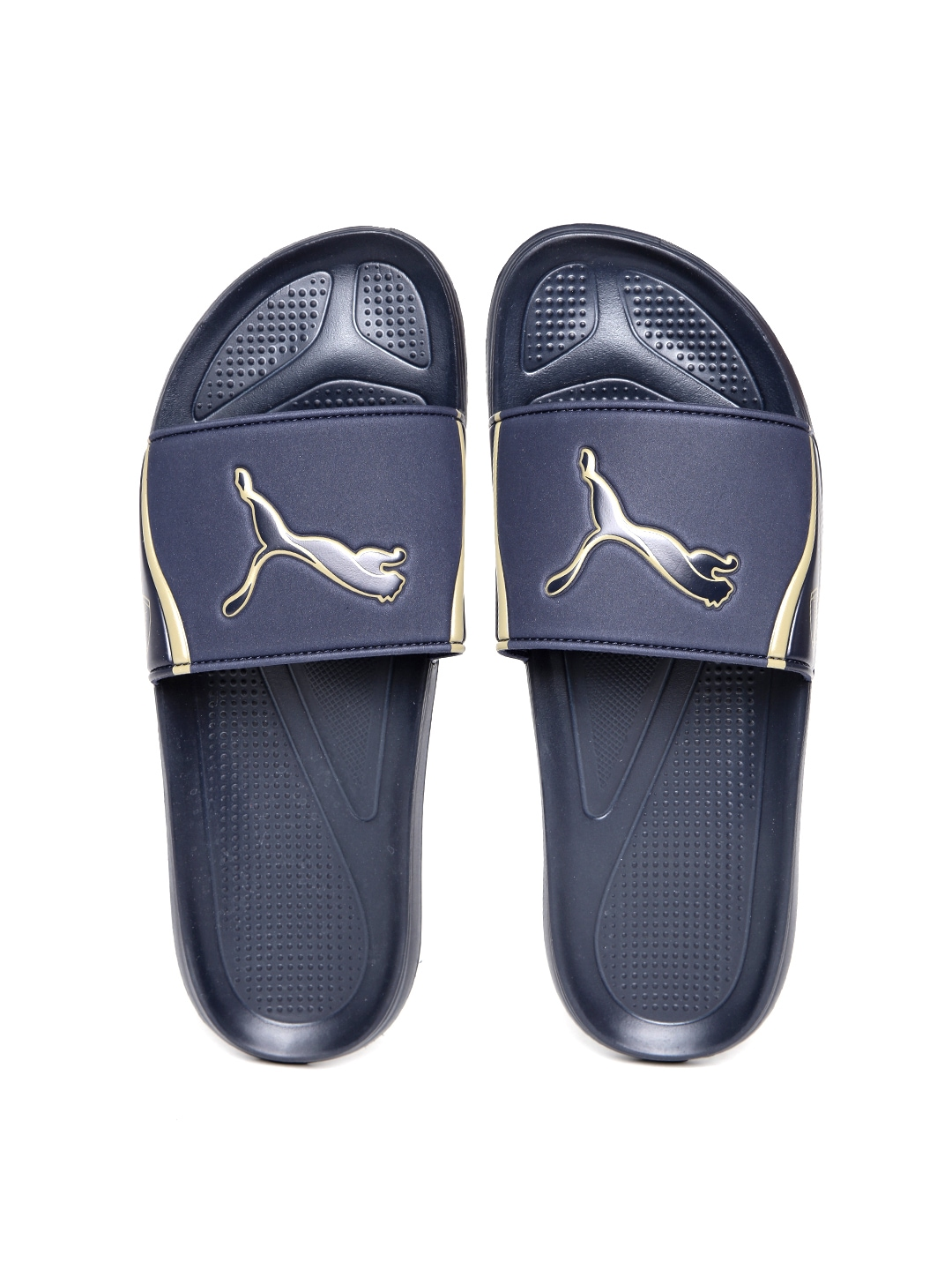 myntra arsenal by puma men navy afc team cat flip flops. Black Bedroom Furniture Sets. Home Design Ideas