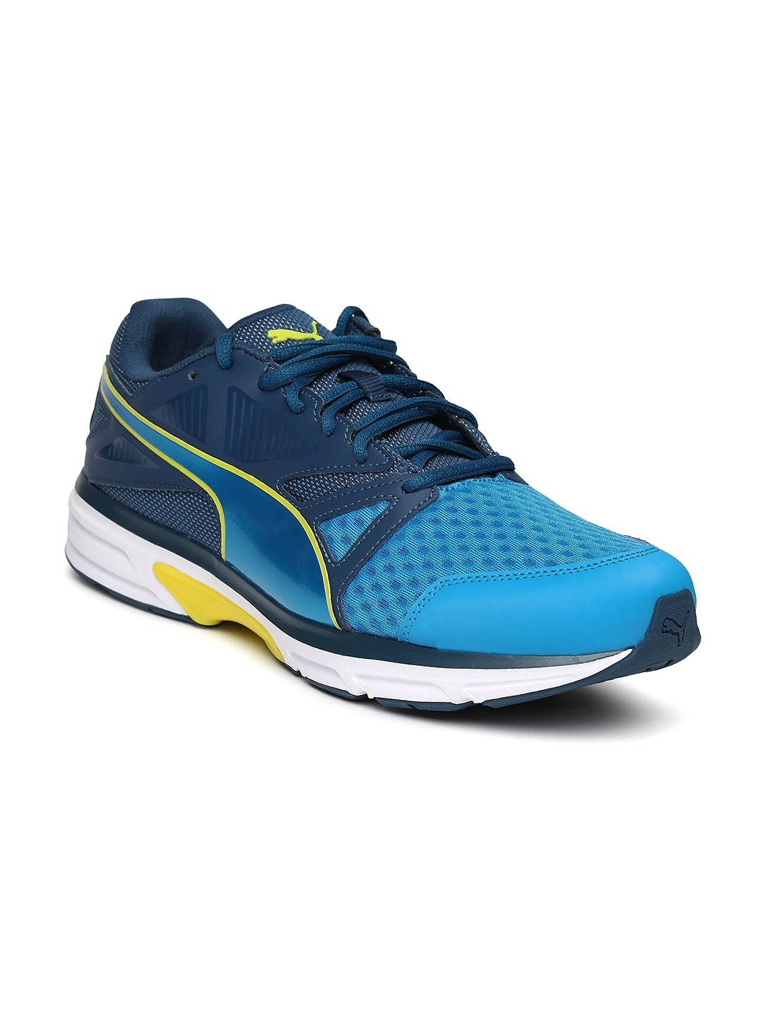 Myntra PUMA Men Blue Devotion Running Shoes 901695 | Buy ...