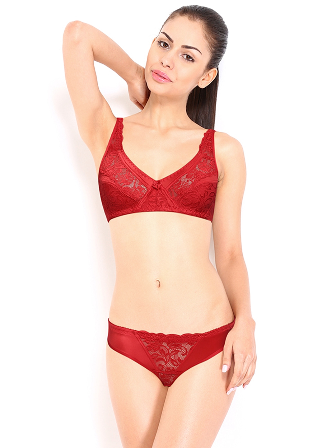 Think, red lingerie set are similar