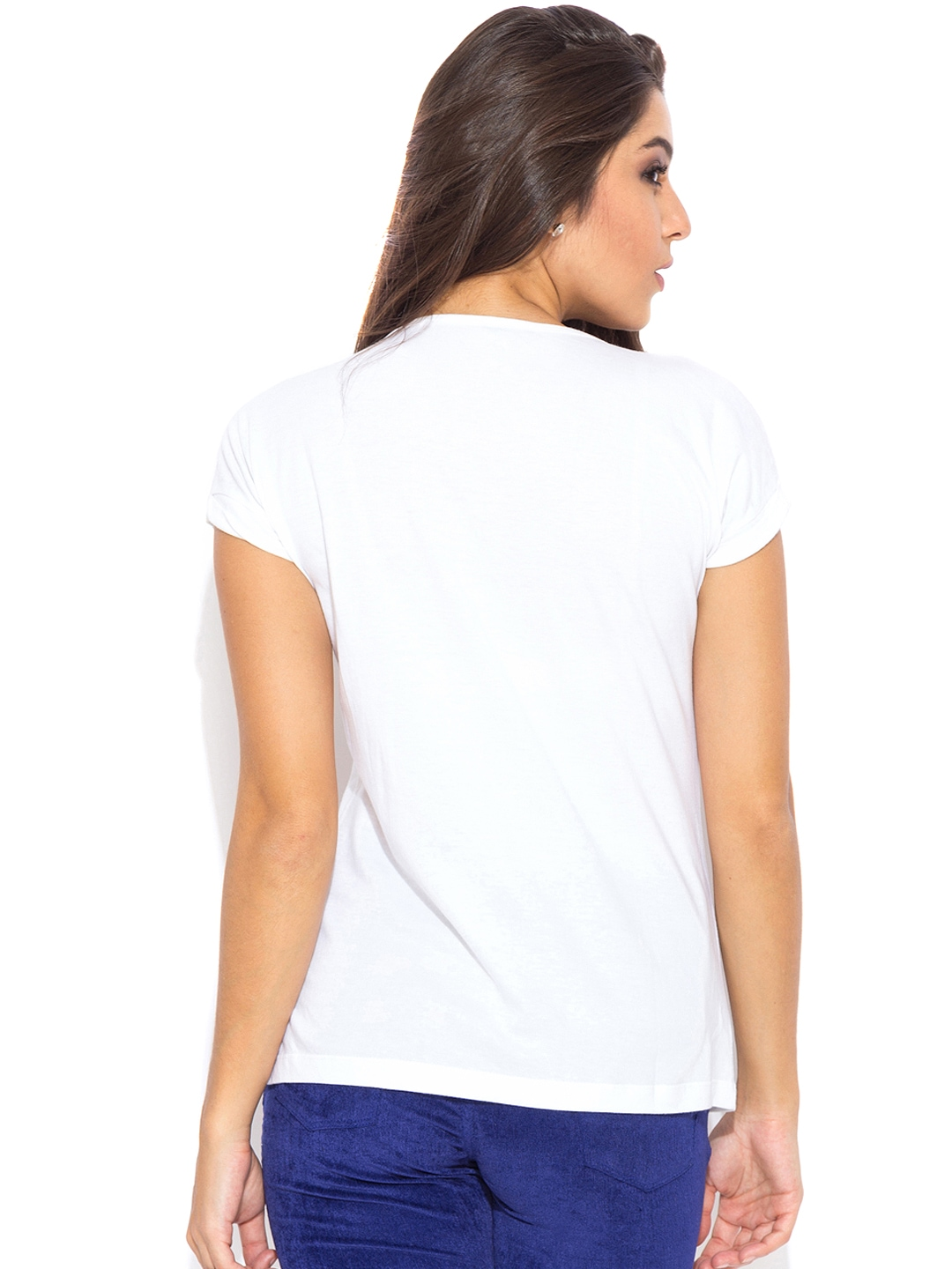 Myntra globus white printed t shirt 910938 buy myntra for Online printed t shirts