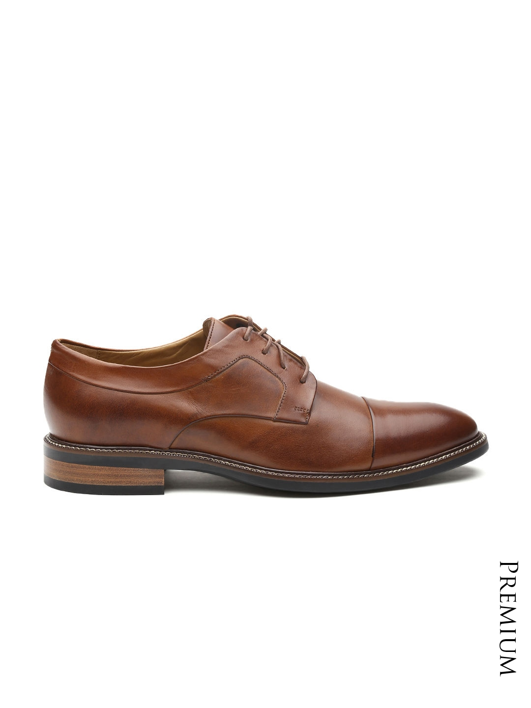 myntra cole haan brown leather lenox hill grand cap