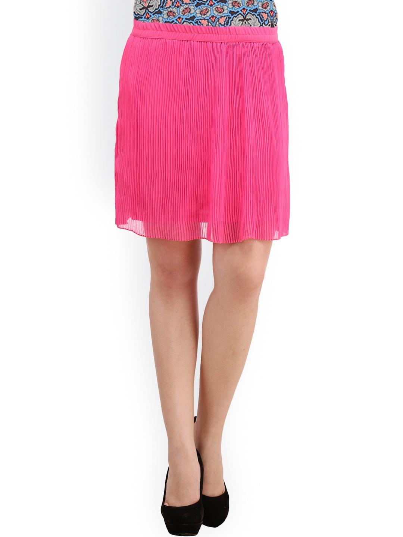 myntra ruhaans pink a line skirt 917086 buy myntra