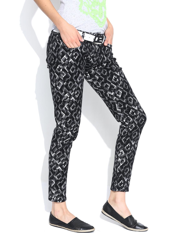Black Printed Jeans