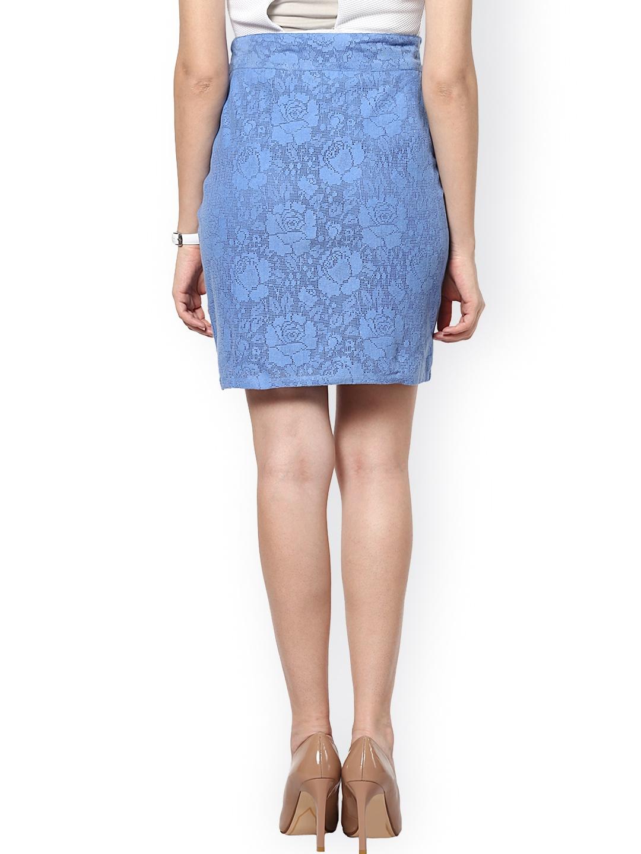 myntra abiti blue lace pencil skirt 772865 buy