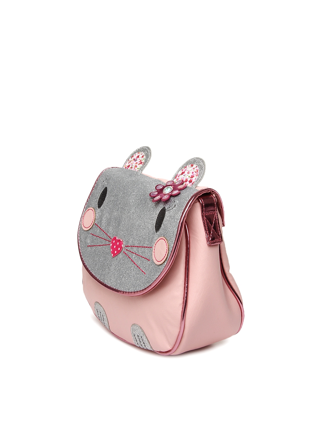 Buy Accessorize Girls Pink Sling Bag (multicolor) 1280646 for kids ...