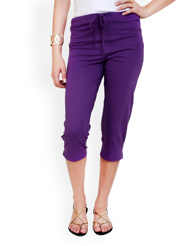 Myntra Alba Women Purple Capris 348356 Buy Myntra Alba