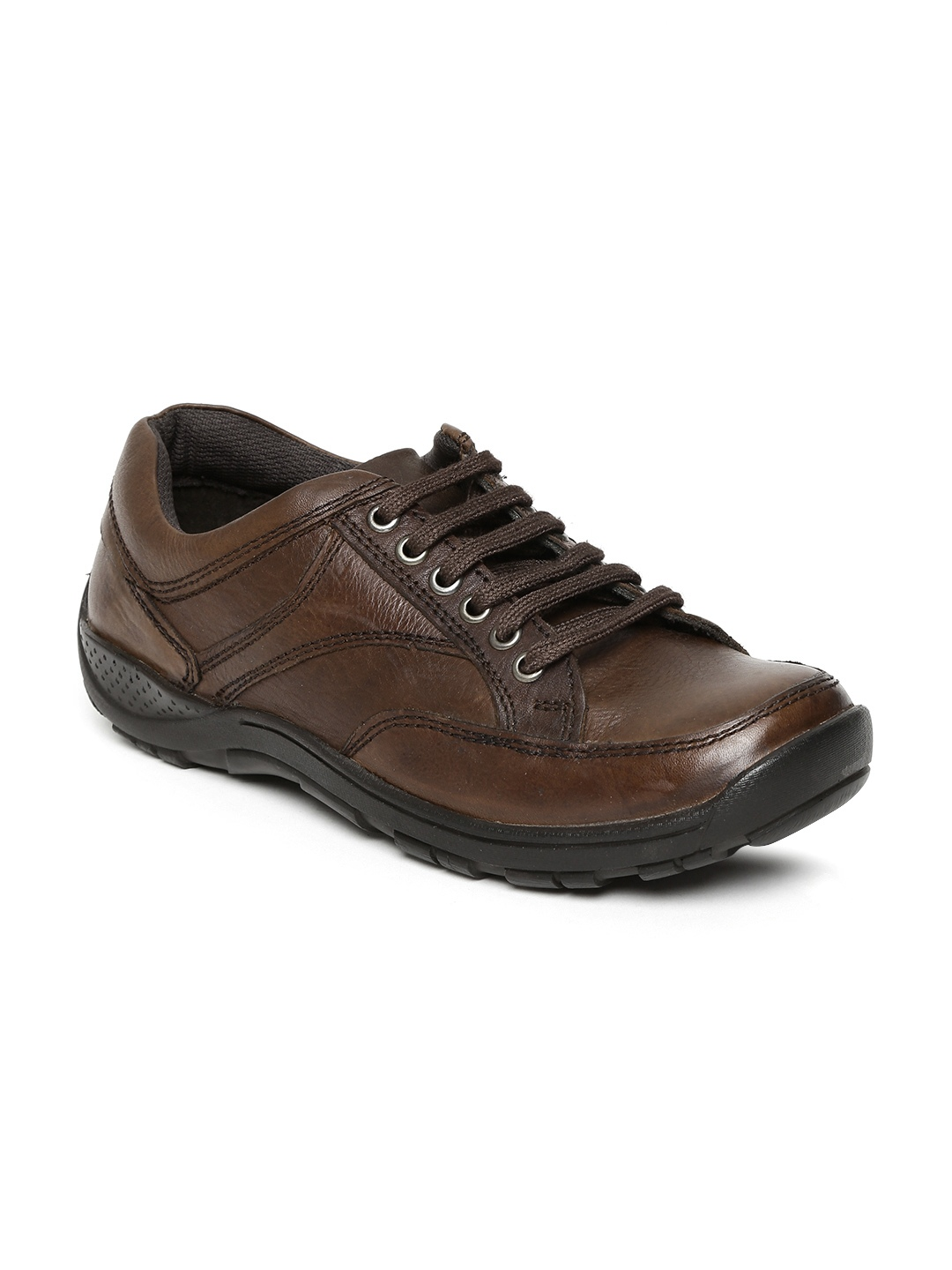 myntra alberto torresi brown leather casual shoes