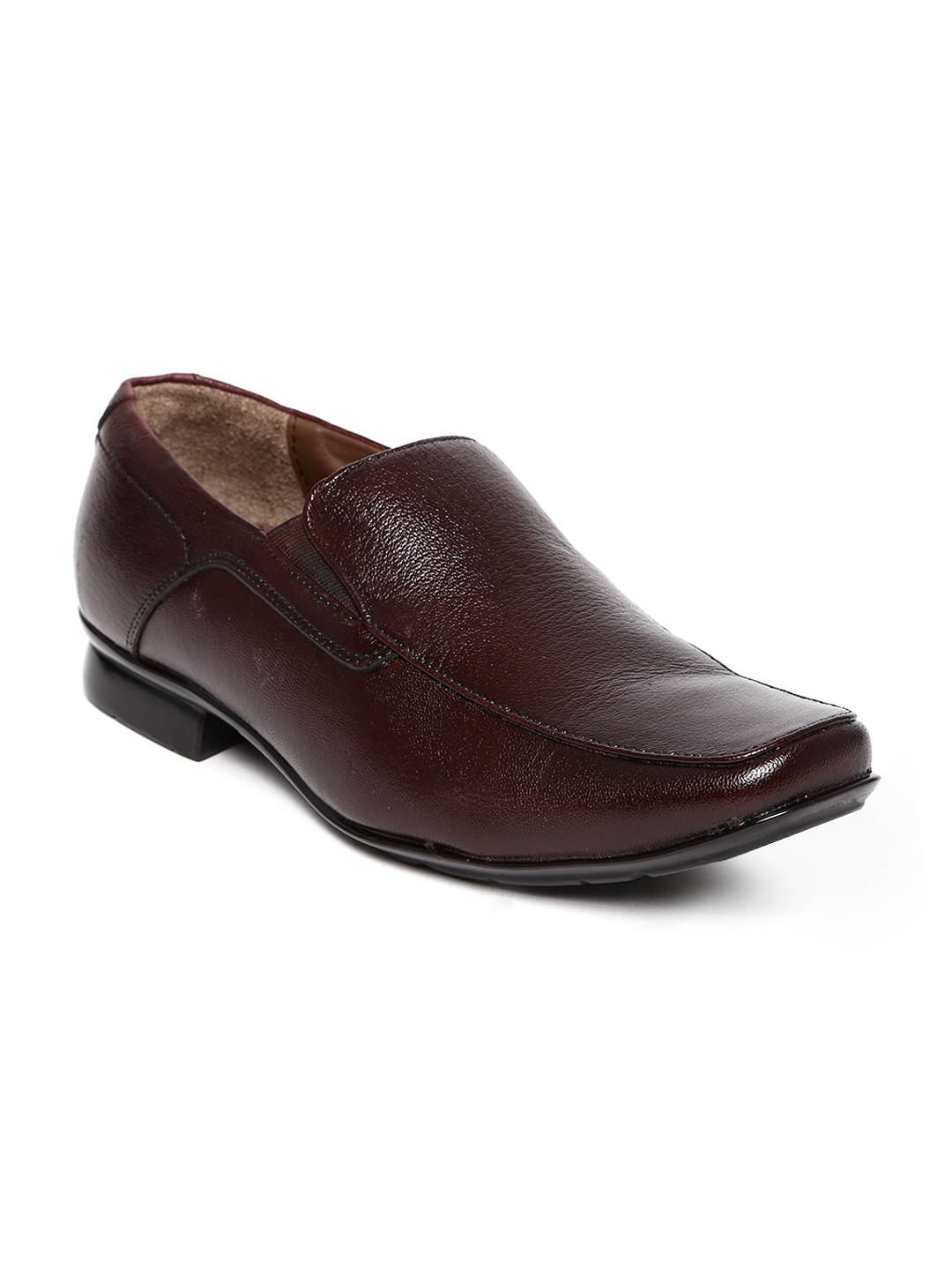 myntra allen cooper brown leather formal shoes 441252