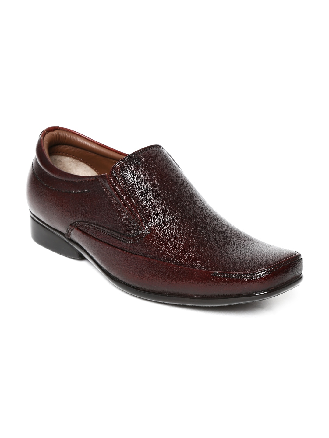 myntra allen cooper coffee brown leather formal shoes