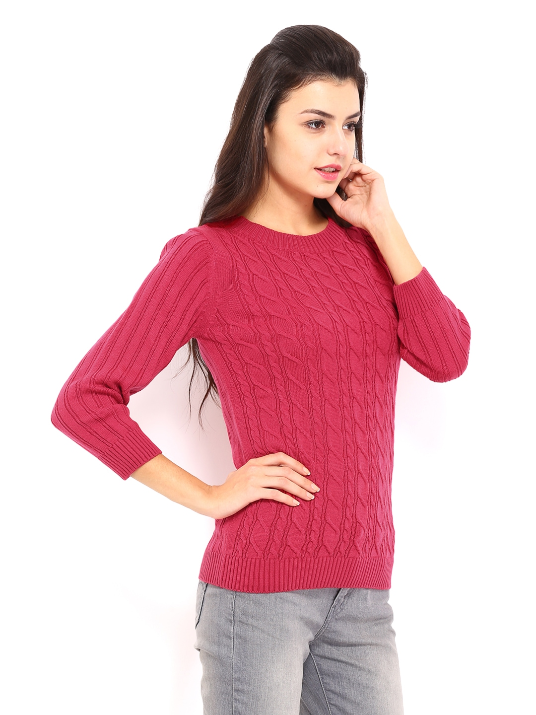 Buy Allen Solly Woman Pink Sweater (multicolor) 7412609 for online ...