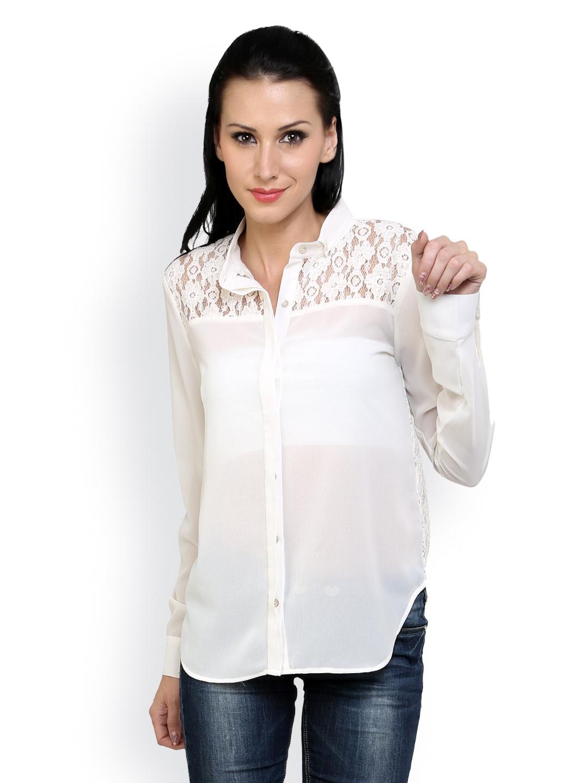 Myntra anasazi women white shirt 443227 buy myntra for Shirts online shopping lowest price