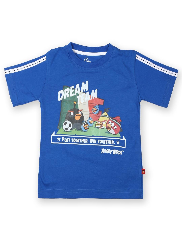 Myntra angry birds boys blue printed t shirt 428657 buy for Boys printed t shirts