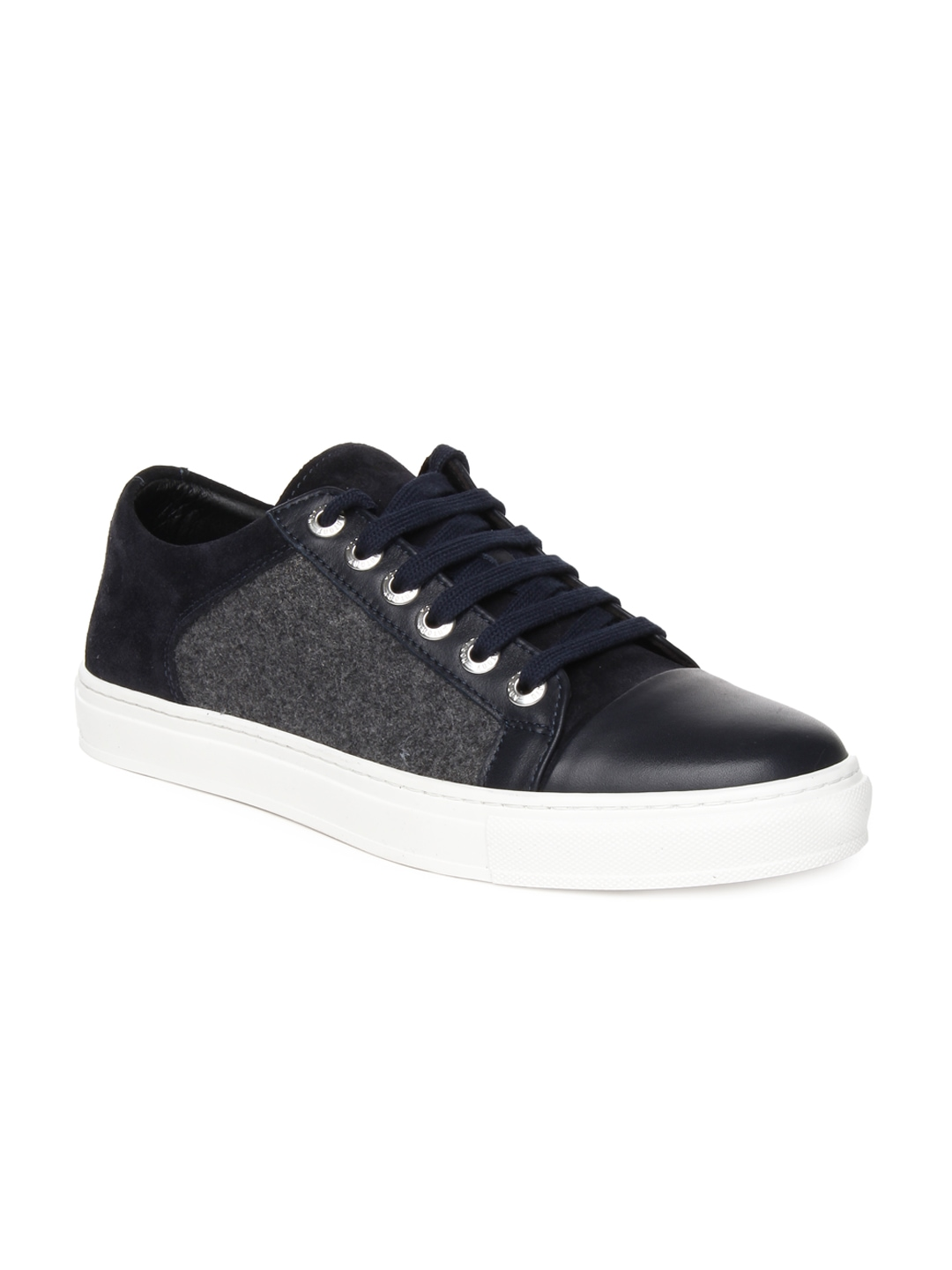 myntra antony morato men navy grey sneakers 557106 buy myntra antony morato casual shoes at. Black Bedroom Furniture Sets. Home Design Ideas
