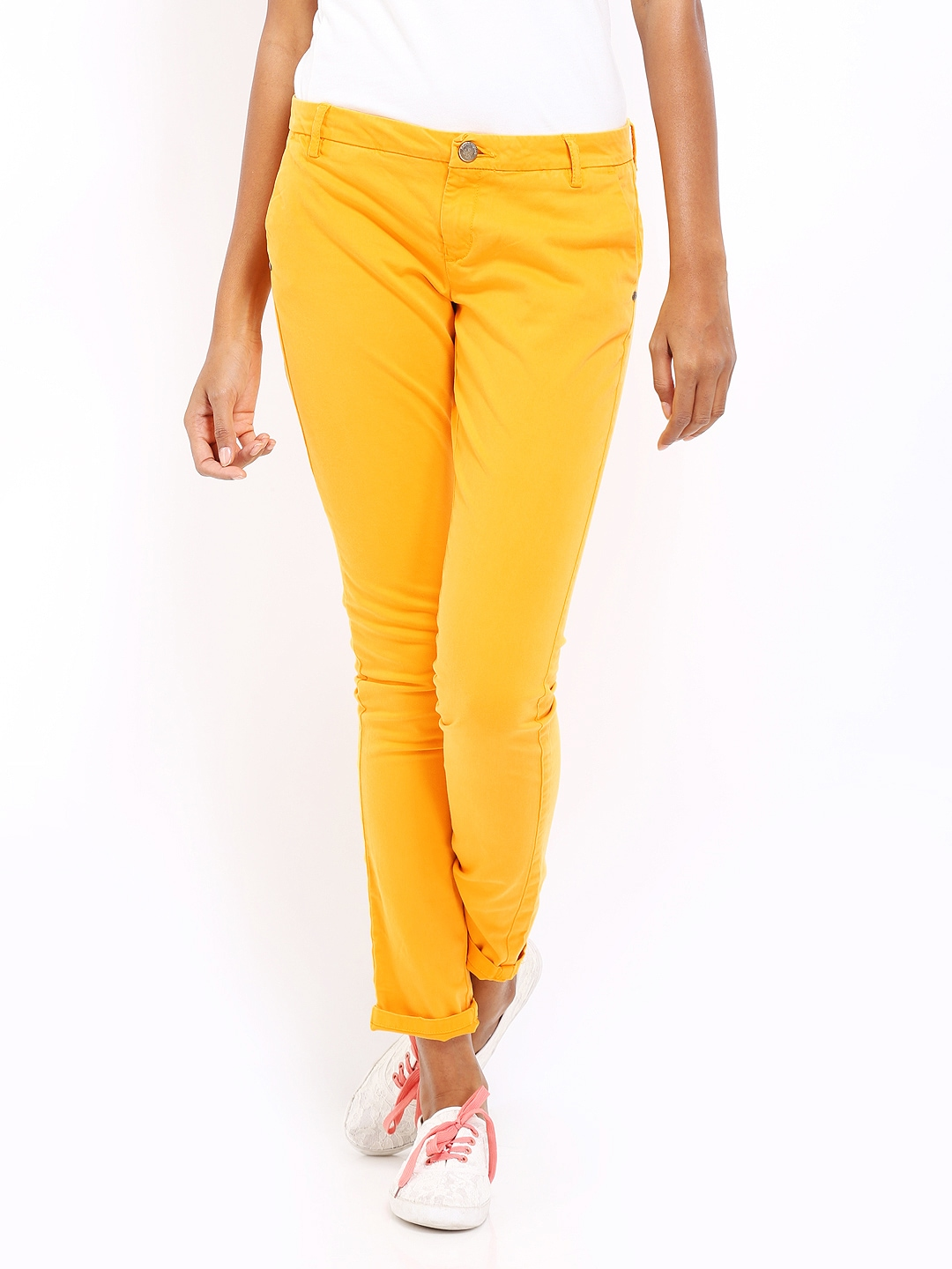 Excellent Tshirtcompany Women Mustard Yellow Track Pants Online Shopping India