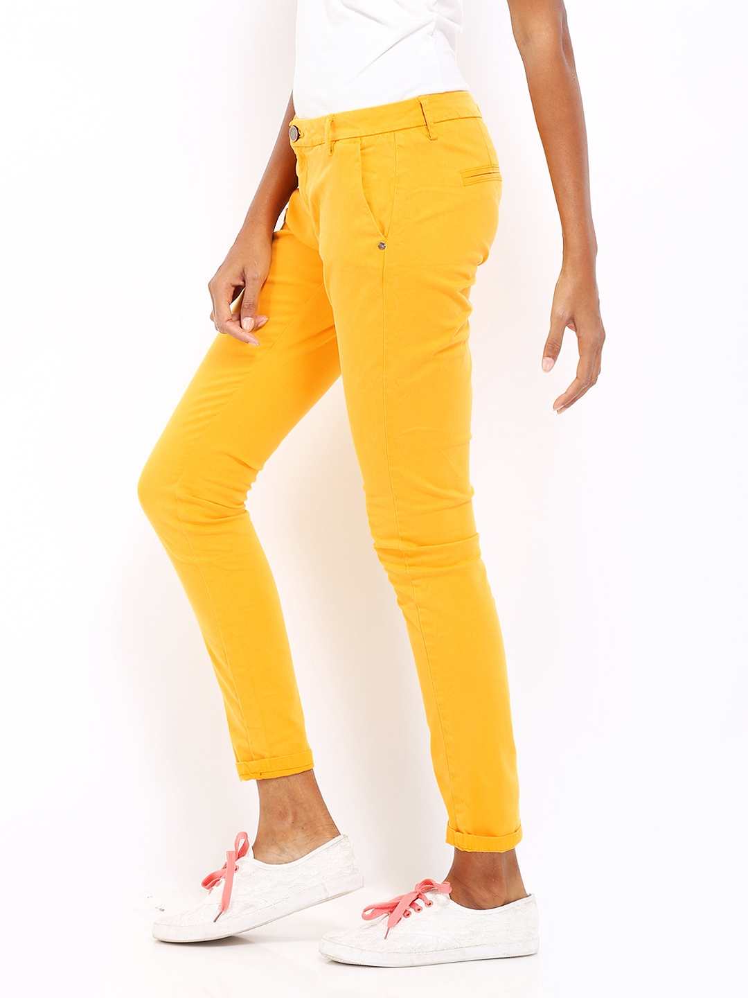 Creative  Mustard Yellow Corduroy Skinny Pants Retail Price 170 Size 25