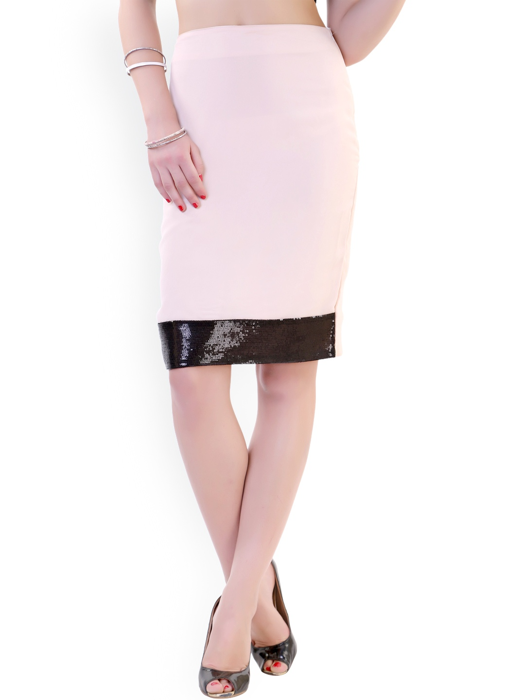 myntra fille coloured pencil skirt 788817