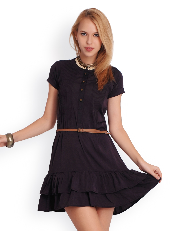 Myntra Belle Fille Women Purple Tailored Dress 494456 ...